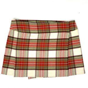 Burberry London Wool PLaid Red Mini Skirt 4